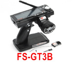 DHK Hunter Parts-FS-GT3B Transmitter with Receiver board(2.4G control,LCD Screen,With loss-control protection)
