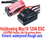 DHK Zombie Parts Hobbywing Max 10 120A ESC and LEOPARD Hobby 3663 Brushless Motor(Violent,waterproof,Rough axis)
