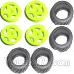 Subotech BG1503 Car Spare Parts-27-02 Wheel Hub and Trire Lether(Each 4pcs)-Yellow