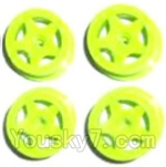 Subotech BG1503 Car Spare Parts-27-03 Front and Rear Wheel Hub(4pcs)-Green-(Not include the Trie Lether)