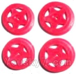 Subotech BG1503 Car Spare Parts-27-04 Front and Rear Wheel Hub(4pcs)-Red-(Not include the Trie Lether)