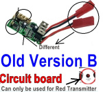SuBotech BG1508 Car Spare Parts-63-01 DZDB01 Old Version B-Circuit board,Receiver board(Can only be used for the Red light Transmitter)