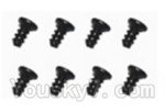 SuBotech BG1508 Car Spare Parts-88-01 WLS001 Flat head screws(8pcs)-M2.0X4