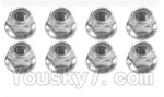 SuBotech BG1508 Car Spare Parts-90-01 WLM001 M4 anti-loose nut(8pcs)