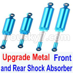 Subotech BG1521 Upgrade Metal Front and Rear Shock Absorber(Total 4pcs)