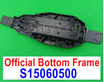 Subotech BG1525 Parts-Chassis, Bottom frame for the BG1525 Car. S15060500. Plastic material.