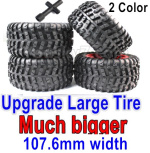 Subotech BG1525 Parts-Upgrade Large Wheel Tires for BG1525 BG1513 BG1518 Car. It has Two color you can choose. Red or Green Color.