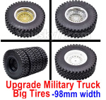 Subotech BG1525 Parts-Upgrade Large Military truck Wheel Tires for BG1525 BG1513 BG1518 Car. Its total amount is heavier. It's more stable to drive.
