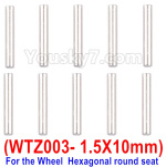 Subotech BG1525 Parts-WTZ003 Positioning pin,Axis Pin. The size is1.5X10mm-10pcs