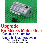 Subotech BG1525 Parts-Upgrade Motor gear. This parts can only be used for the Upgrade Brushless kit.
