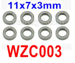 Subotech BG1525 Parts-Ball bearing. WZC003 . The size is 11X7X3MM. Total 8pcs.