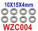 Subotech BG1525 Parts-Ball bearing. WZC004. The size is 10X15X4MM. Total 8pcs.