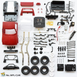 WPL C14 C-14 Hercules Parts-01-04 KIT version empty car version need to assemble yourself-Red