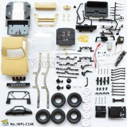 WPL C14 C-14 Hercules Parts-01-05 KIT version empty car version need to assemble yourself-Yellow