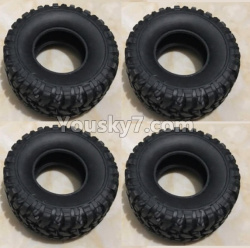 WPL C14 C-14 Hercules Parts-02-05 Tire lether(4pcs)