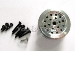 WPL C14 C-14 Hercules Parts-02-06 Upgrade Steel Wheel hub(1pcs)-Not include the tire lether