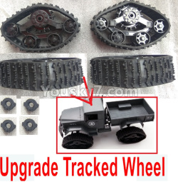 WPL C14 C-14 Hercules Parts-02-09 Upgrade Tracked Wheel(4 set)