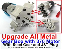 WPL C14 C-14 Hercules Parts-04-03 Upgrade All Metal Gear Box with 370 Motor and Steel gear,JST Plug(Directlry install,and it need to be used with 04-04 pr 04-05 Metal drive shaft together)