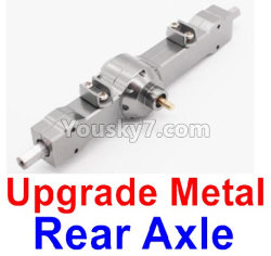 WPL C14 C-14 Hercules Parts-06-04 Upgrade Metal Rear axle-Silver color