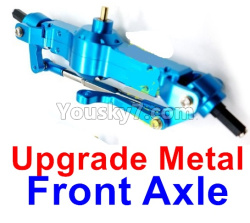 WPL C14 C-14 Hercules Parts-06-10 Upgrade Metal Front axle-Blue color