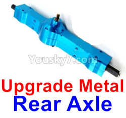WPL C14 C-14 Hercules Parts-06-12 Upgrade Metal Rear axle-Blue color
