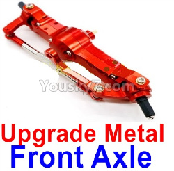 WPL C14 C-14 Hercules Parts-06-14 Upgrade Metal Front axle-Red color