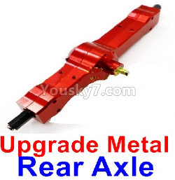 WPL C14 C-14 Hercules Parts-06-16 Upgrade Metal Rear axle-Red color