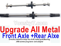 WPL C14 C-14 Hercules Parts-08-05 Upgrade All Metal Front and rear axle shaft(Directlry install,Include the shaft,metal gear,Bearing)