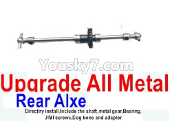 WPL C14 C-14 Hercules Parts-08-08 Upgrade All Metal Rear axle shaft(Directlry install,Include the shaft,metal gear,Bearing)