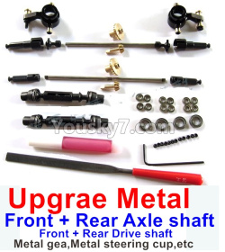 WPL C14 C-14 Hercules Parts-08-09 Upgrade Metal gear,Upgrade Metal steering cup and Upgrade Metal drive shaft