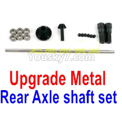 WPL C14 C-14 Hercules Parts-08-12 Upgrade Metal Rear Shaft set