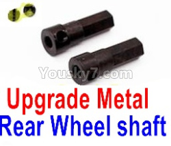 WPL C14 C-14 Hercules Parts-08-18 Upgrade Metal Rear Wheel shaft(2pcs)