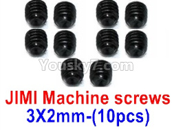 WPL C14 C-14 Hercules Parts-08-21 JIMI Machine screws(3X2mm)-10pcs