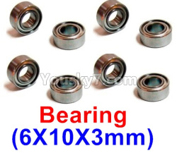 WPL C14 C-14 Hercules Parts-08-24 Bearing(6X10X3mm)-8pcs