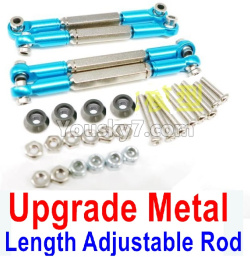 WPL C14 C-14 Hercules Parts-08-27 Upgrade Metal Length Adjustable Rod(4pcs)-Blue