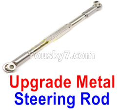 WPL C14 C-14 Hercules Parts-09-04 Upgrade Metal Steering Rod(1pcs)-Silver