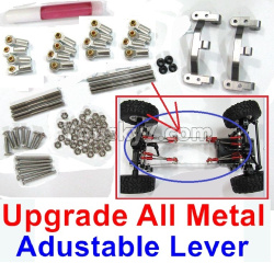 WPL C14 C-14 Hercules Parts-10-03 Upgrade All Metal lever-Length adustable-Silver