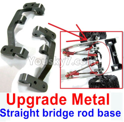 WPL C14 C-14 Hercules Parts-10-05 Upgrade Metal Straight bridge rod base, base, Upgrade Metal bridge seat