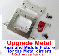WPL C14 C-14 Hercules Parts-12-05 Upgrade Metal Rear and Middle Fixture for the Metal girders & Red rescue buckle