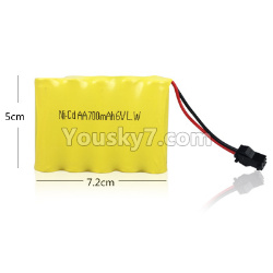 WPL C14 C-14 Hercules Parts-14-01 Official 6V 700MAH Battery(1pcs)-7.2X5CM