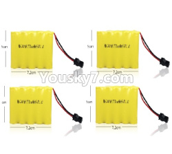 WPL C14 C-14 Hercules Parts-14-03 Official 6V 700MAH Battery(4pcs)-7.2X5CM