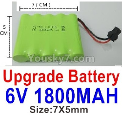 WPL C14 C-14 Hercules Parts-14-05 Upgrade 6V 1800MAH Battery(1pcs)-Size is nearly the same as the Official 700mah BatteryWPL C14 C-14 Hercules Parts-14-05 Upgrade 6V 1800MAH Battery(1pcs)-Size-7X5cm
