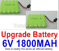 WPL C14 C-14 Hercules Parts-14-06 Upgrade 6V 1800MAH Battery(2pcs)-Size-7X5cm