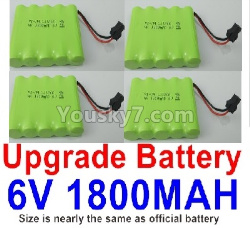 WPL C14 C-14 Hercules Parts-14-07 Upgrade 6V 1800MAH Battery(4pcs)-Size-7X5cm