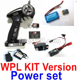 WPL C14 C-14 Hercules Parts-16-01 Upgrade WPL KIT Version Power set(Include the 16-01,02,03,05,06,07 parts)