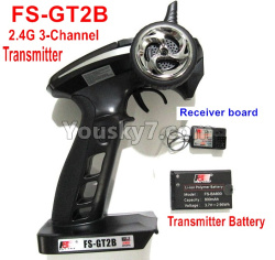 WPL C14 C-14 Hercules Parts-16-02 FS-GT2B 2.4G 3-Channel Transmitter with Battery & Receiver board