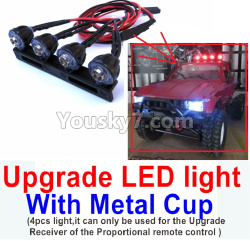 WPL C14 C-14 Hercules Parts-16-09 Upgrade LED light With Metal Cup(4pcs light,it can only be used for the Upgrade Receiver of the Proportional remote control