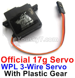 WPL C14 C-14 Hercules Parts-17-01 Official WPL 3-Wire 17g Servo with Plastic Gear