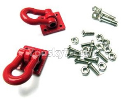 WPL C14 C-14 Hercules Parts-23-01 Red rescue buckle, metal trailer hook