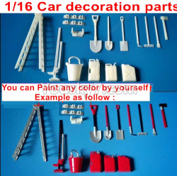 WPL C14 C-14 Hercules Parts-39 Upgrade DIY Car decoration parts,You can Paint any color by yourself